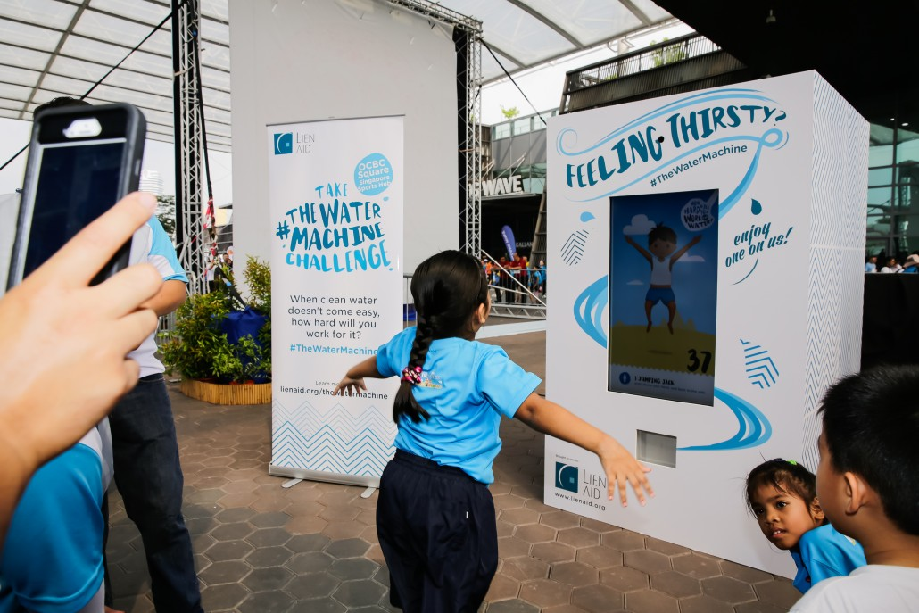 #Water Machine at the Singapore World Water Day 2016