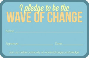 Pledge card