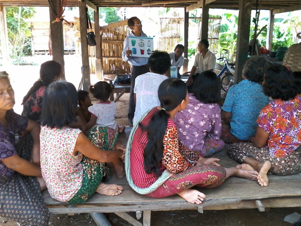 Safe hygiene practices promoted at a village talk in Banteay Meanchey province