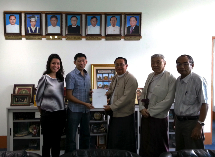 Signing of the Memorandum of Understanding (MOU) with the Myanmar Engineering Society (MES) on 30th September 2015