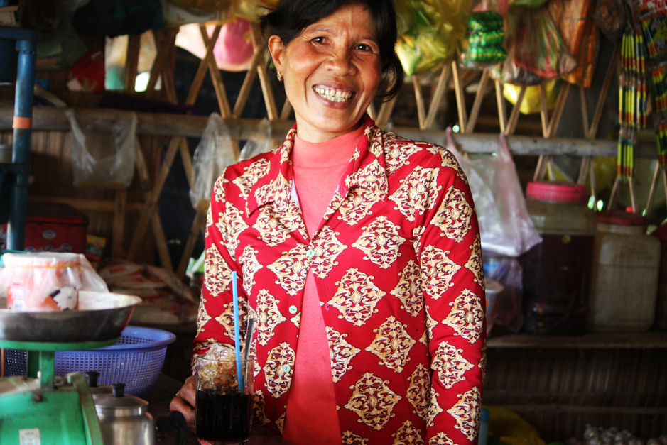 With better access to clean water, Se Hin can make more coffee and porridge to sell and earn more income to support her family.
