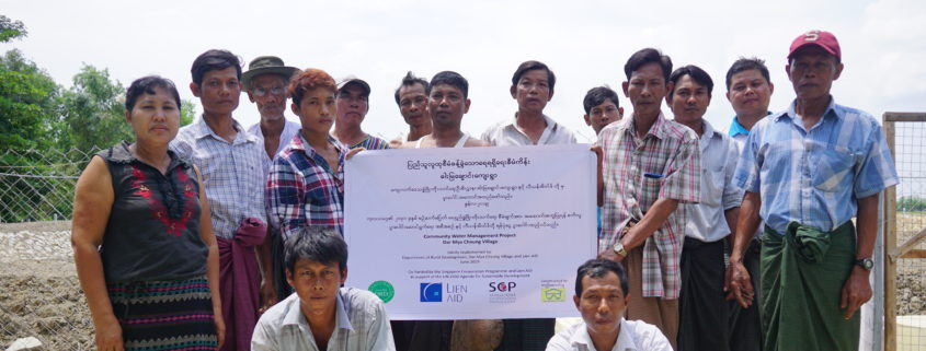 Members of the water management committee from the village of Dar Mya Chaung